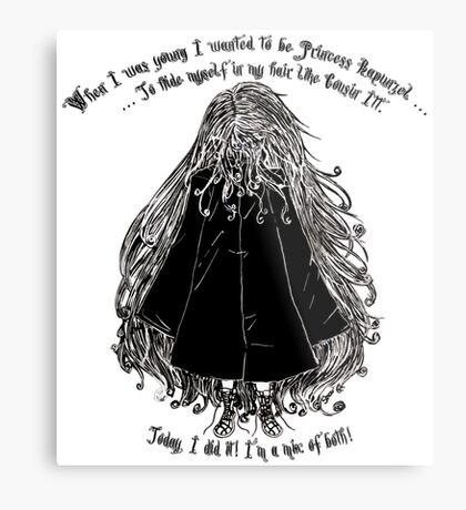 When I was young... Metal Print