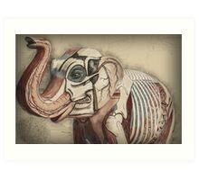 Elephant Inside Out Art Print