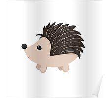 Cartoon Porcupine Poster