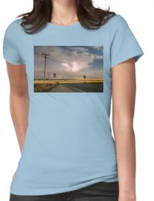 Cars Lightning and Lines Womens Fitted T-Shirt