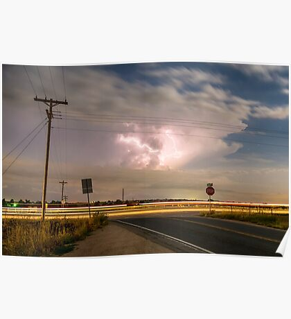 Cars Lightning and Lines Poster