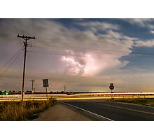 Cars Lightning and Lines Photographic Print