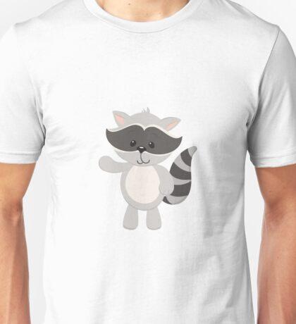 Cartoon Raccoon Waving Unisex T-Shirt