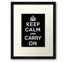Keep Calm - Black Framed Print