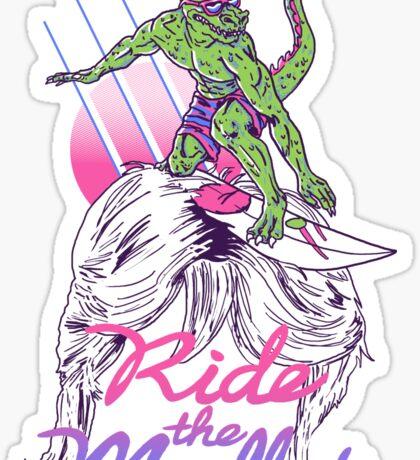 Mullet Surfer Sticker