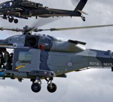 AgustaWestland Wildcat HMA2 (ZZ515) & Apache AH1 Helicopters Sticker