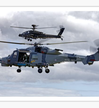 AgustaWestland AW159 Wildcat HMA2 (ZZ515) & Apache AH1 Helicopters Sticker