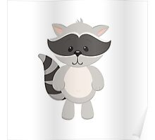 Cartoon Raccoon Poster