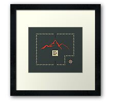 Explore Mountain Framed Print