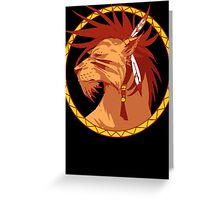 RedXIII Greeting Card