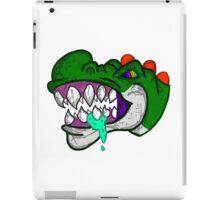An Unhappy Green Dinosaur iPad Case/Skin