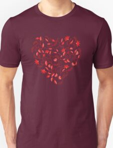 Floral heart shaped pattern Unisex T-Shirt