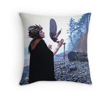 Calling The Ancestors Throw Pillow