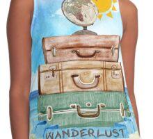 Wanderlust - World Traveler  Contrast Tank