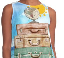Wanderlust - World Traveler  Contrast Tank