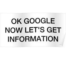 OK Google: Beyoncé Style Poster