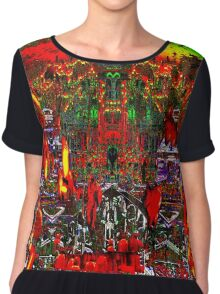 WHERE THERE'S SMOKE, THERE'S FIRE: and Souls Roasting in Hell Chiffon Top