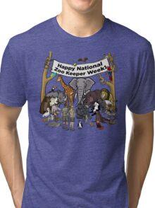 Happy National Zoo Keeper Week Tri-blend T-Shirt