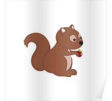 Cartoon Squirrel Poster