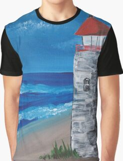 Lighthouse On The Beach Graphic T-Shirt