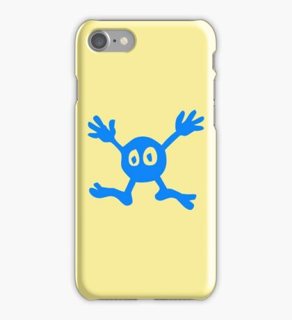 Funny Blue Cartoon Character iPhone Case/Skin