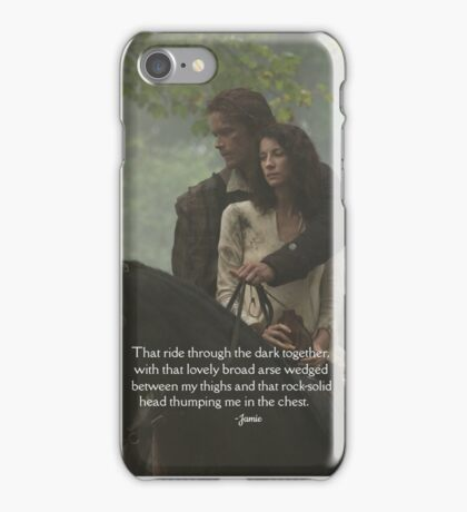 Outlander Quote/Jamie & Claire Fraser/Rock-solid head iPhone Case/Skin