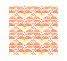 Flamingo Skyline Art Print
