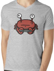 Crabbly the Crabby Crab Mens V-Neck T-Shirt