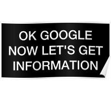 OK Google: Beyoncé Style (dark) Poster