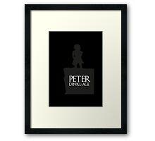 Peter having a Dinkl-age Framed Print
