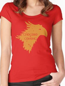 Chocobo is Coming Women's Fitted Scoop T-Shirt