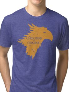 Chocobo is Coming Tri-blend T-Shirt