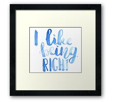 I like being right! Framed Print