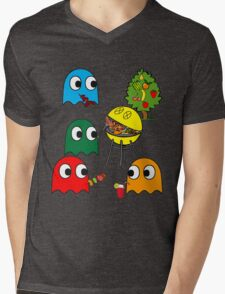 Pac Man is dead, so let's barbecue! Mens V-Neck T-Shirt