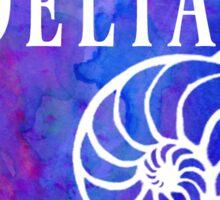 Kappa Delta Watercolor Nautilus Shell Sticker