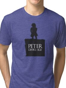 Peter having a Dinkl-age Tri-blend T-Shirt