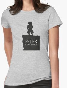 Peter having a Dinkl-age Womens Fitted T-Shirt
