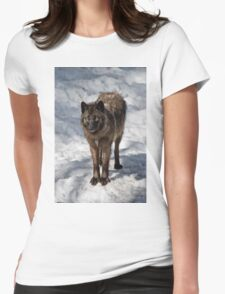 Black Wolf Womens Fitted T-Shirt