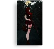 Zombie little red riding hood Canvas Print