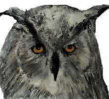 Eagle Owl Wild Bird Of Prey Acrylic Painting by JamesPeart