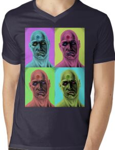 Manhattan Pop Art Mens V-Neck T-Shirt