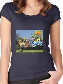Bee Shrek Test in the House Design Women's Fitted Scoop T-Shirt