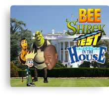 Bee Shrek Test in the House Design Canvas Print