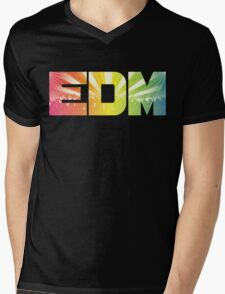 EDM Rainbow Mens V-Neck T-Shirt