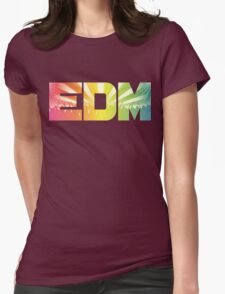 EDM Rainbow Womens Fitted T-Shirt