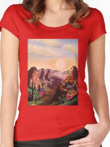 Cacti and Canyons Women's Fitted Scoop T-Shirt