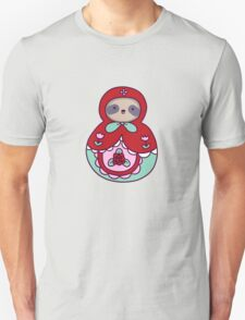 Russian Doll Sloth Unisex T-Shirt