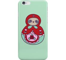 Russian Doll Sloth iPhone Case/Skin