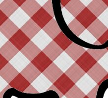 red checkered elephant  Sticker