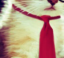 Cute Executive Cat Sticker